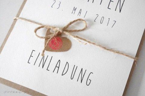 Diy Einladungskarte Fur Eure Hochzeit Hochzeitseinladungen Selbst Gestalten Hochzeitseinladungen Diy Handgemachte Hochzeitseinladungen