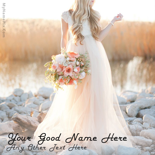 Write Your Name On Beautiful In Frock Picture Style Best To Blush Wedding Dressesblush