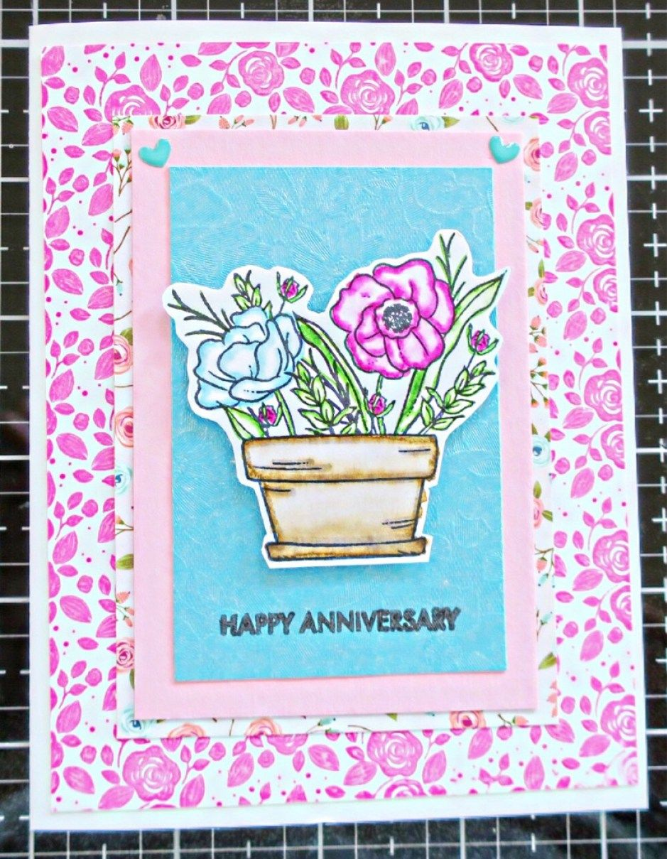 Mandy's Flowers 14th Anniversary Card Anniversary cards