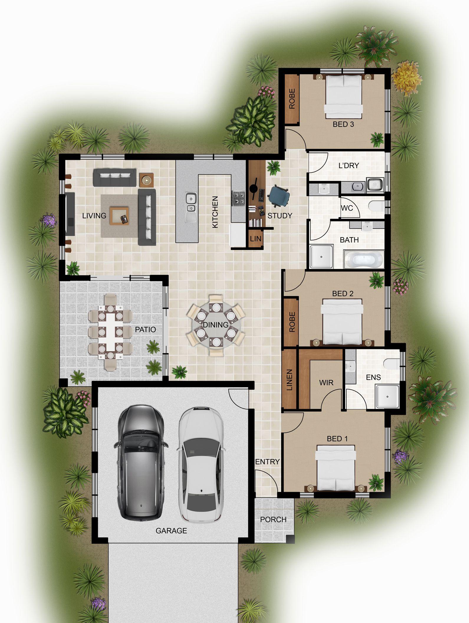 2d colour floor plan for a home building company innisfail qld