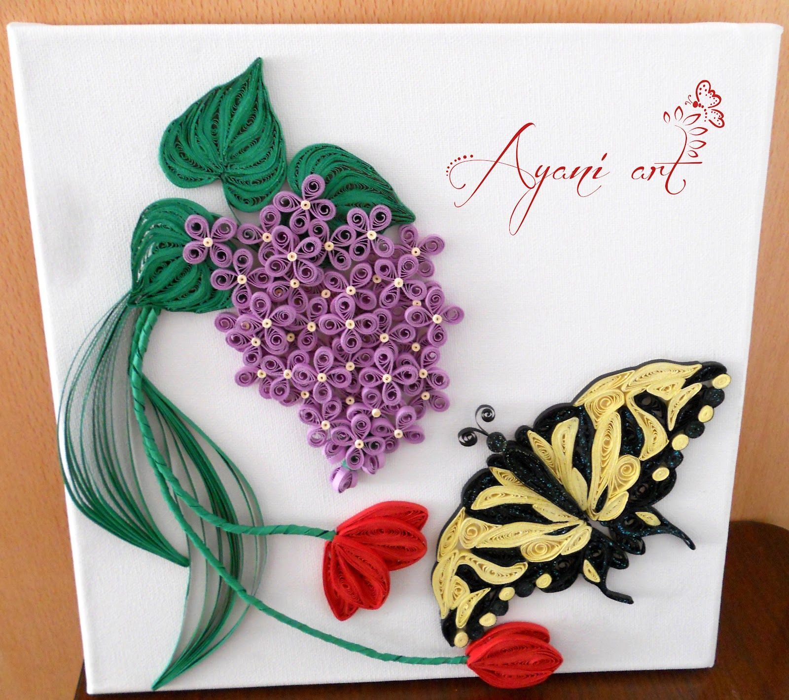 Открытка с бабочкой из квиллинга