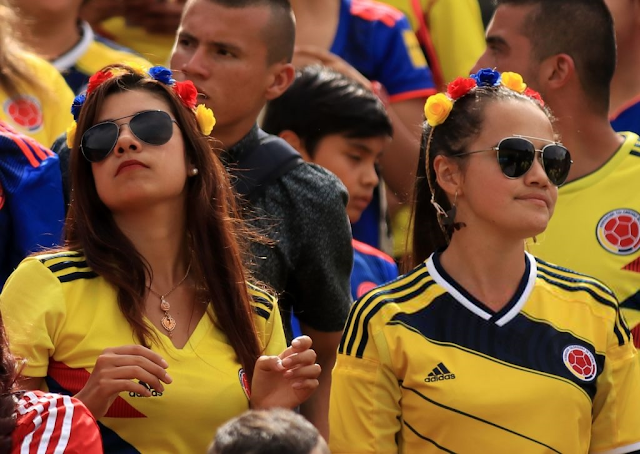 Hottest Busty Colombian Girls During Fifa  Match Hd Photos