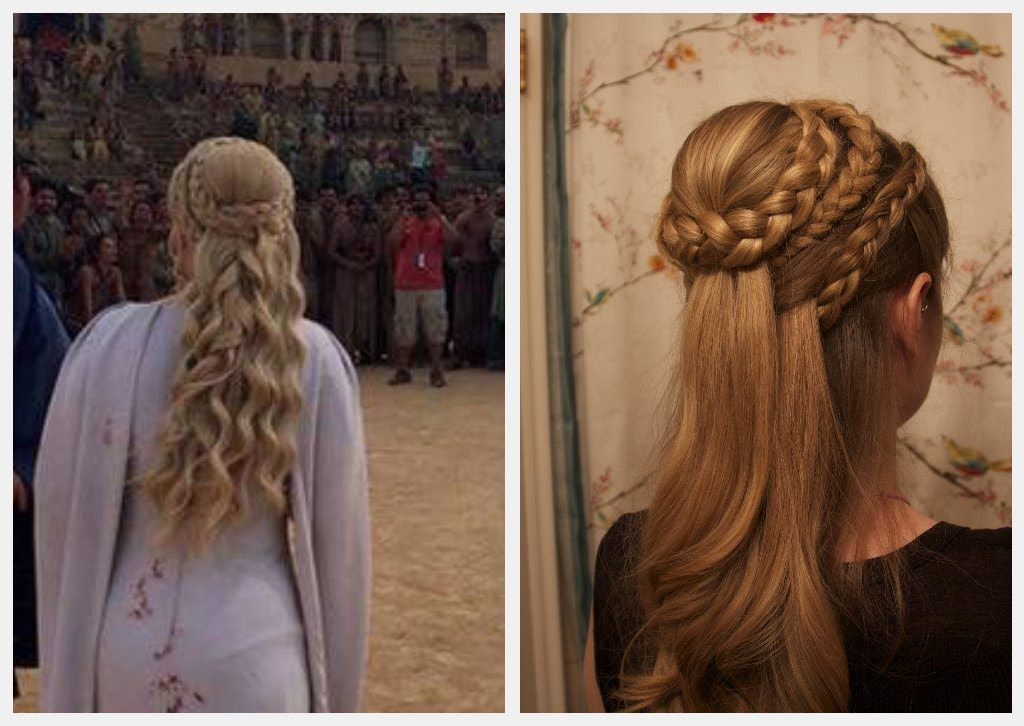 Game Of Thrones Hair Daenerys Targaryen Season 5 Braided Crown Hairstyles Hair Styles Crown Hairstyles