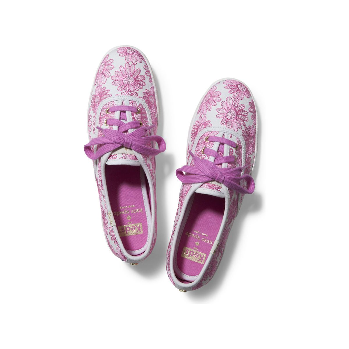 bfb3bacc529b Women KEDS X kate spade new york CHAMPION DAISY EMBROIDERY Pink Daisy