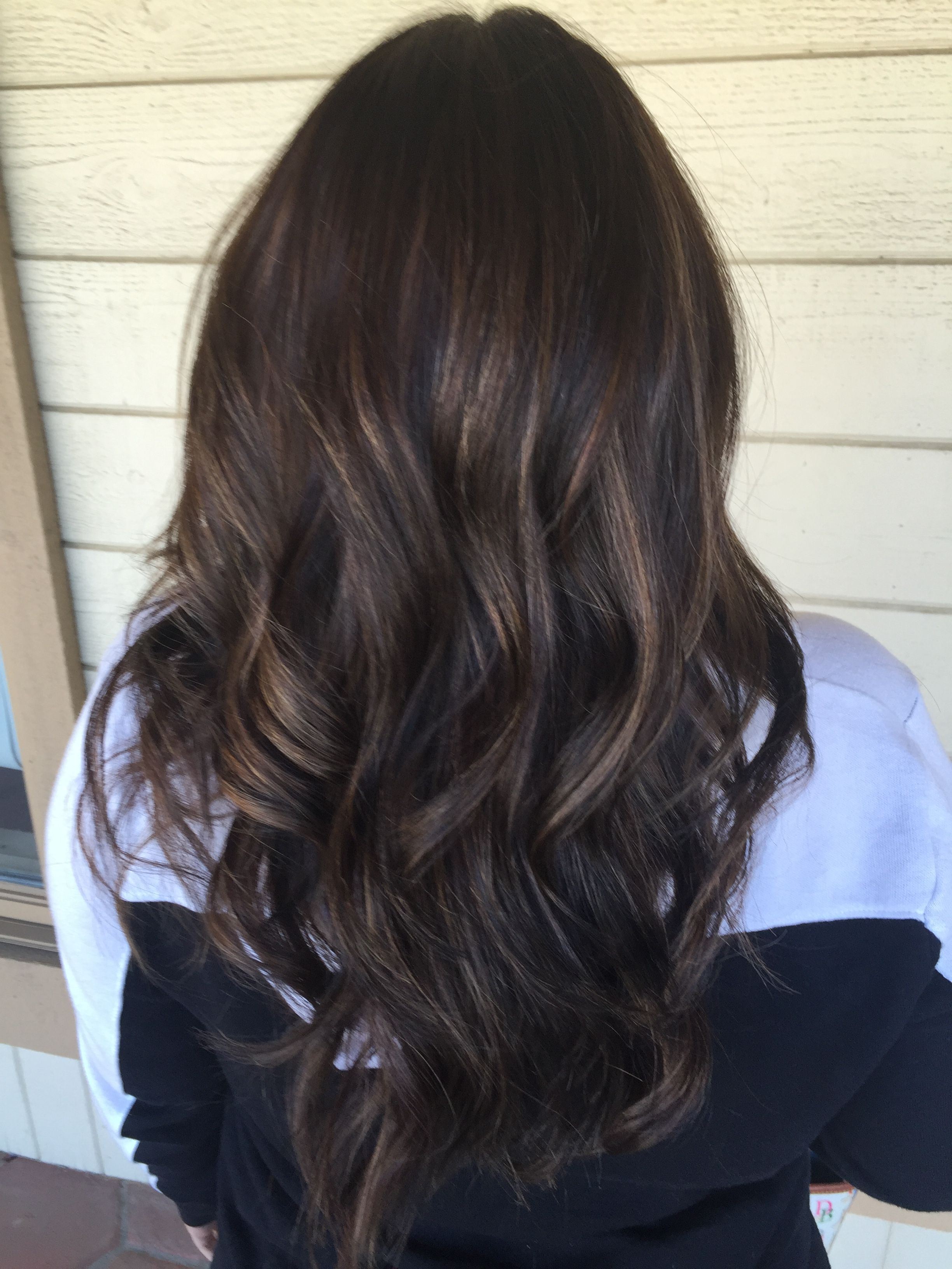 Dark hair with caramel highlights  Hair  Cabello