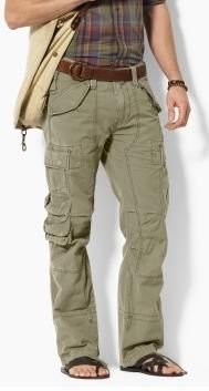 b7e37a23 Polo Ralph Lauren Herringbone Men's Cargo Pants - Mill Olive | My ...