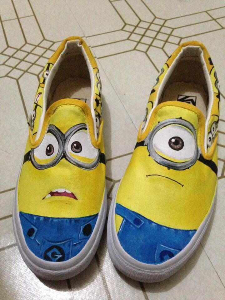 64fd0706db2c Despicable me customized vans Custom Vans