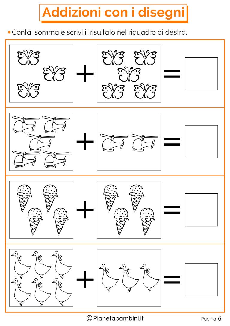 Giochi Di Matematica Sulle Addizioni Per Bambini Da Stampare