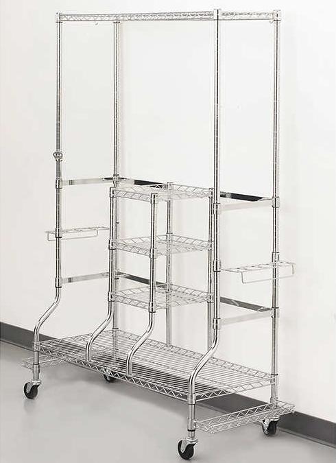 golf bag storage rack double large