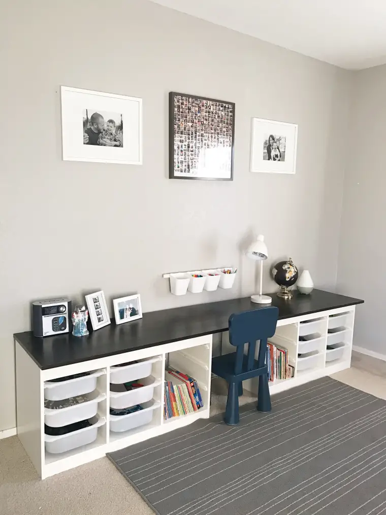 9 Kids Rooms Using IKEA's Trofast as Genius Storage,  #Genius #IKEAs #Kids #kidstable #Rooms #Storage #Trofast