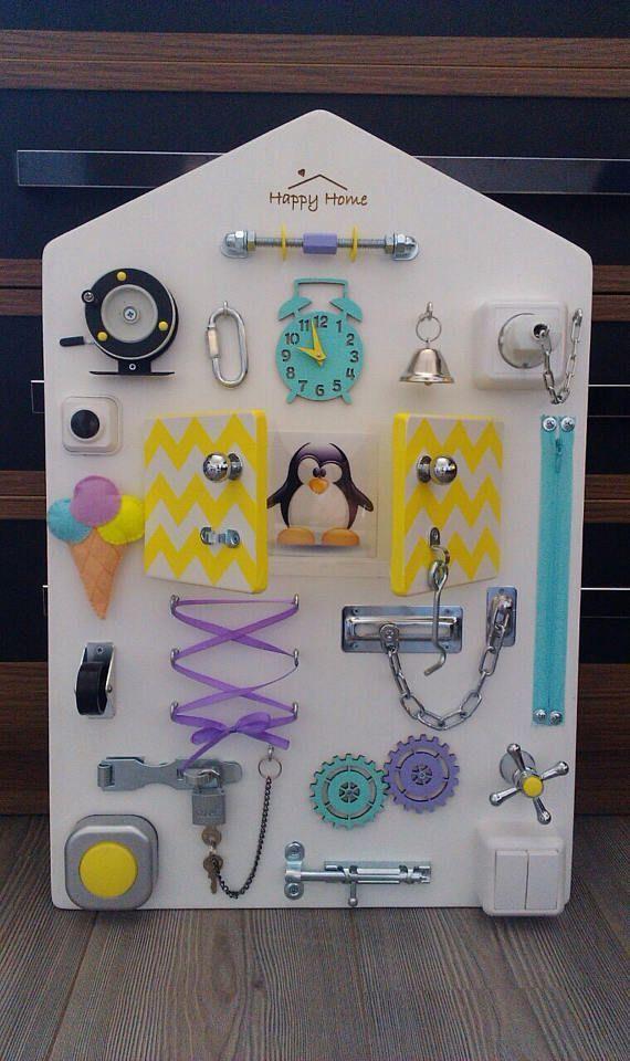 Busy Board Sensory Spielen Sensory Game Personalisierte Kindergeschenk Benutzerdefinierte Bab