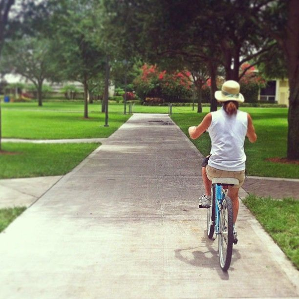 #Summerfun @Lynn University... Quiet days are perfect for breezy bike rides!