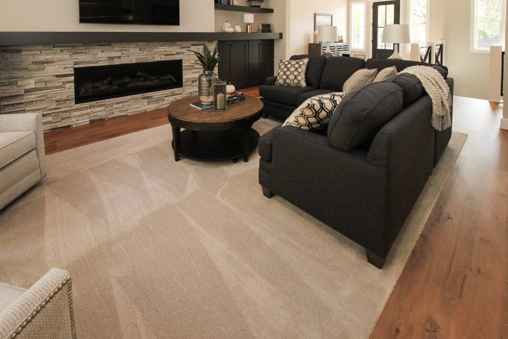 Tan Carpeted Family Room Family Room Texture Carpet Home Decor