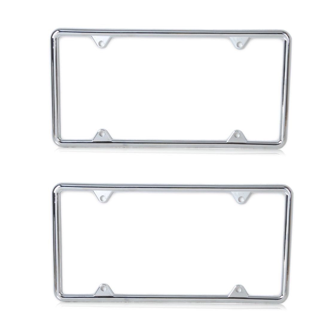 2pcs New Silver Zinc Alloy License Plate Frame Universal for VW Polo ...