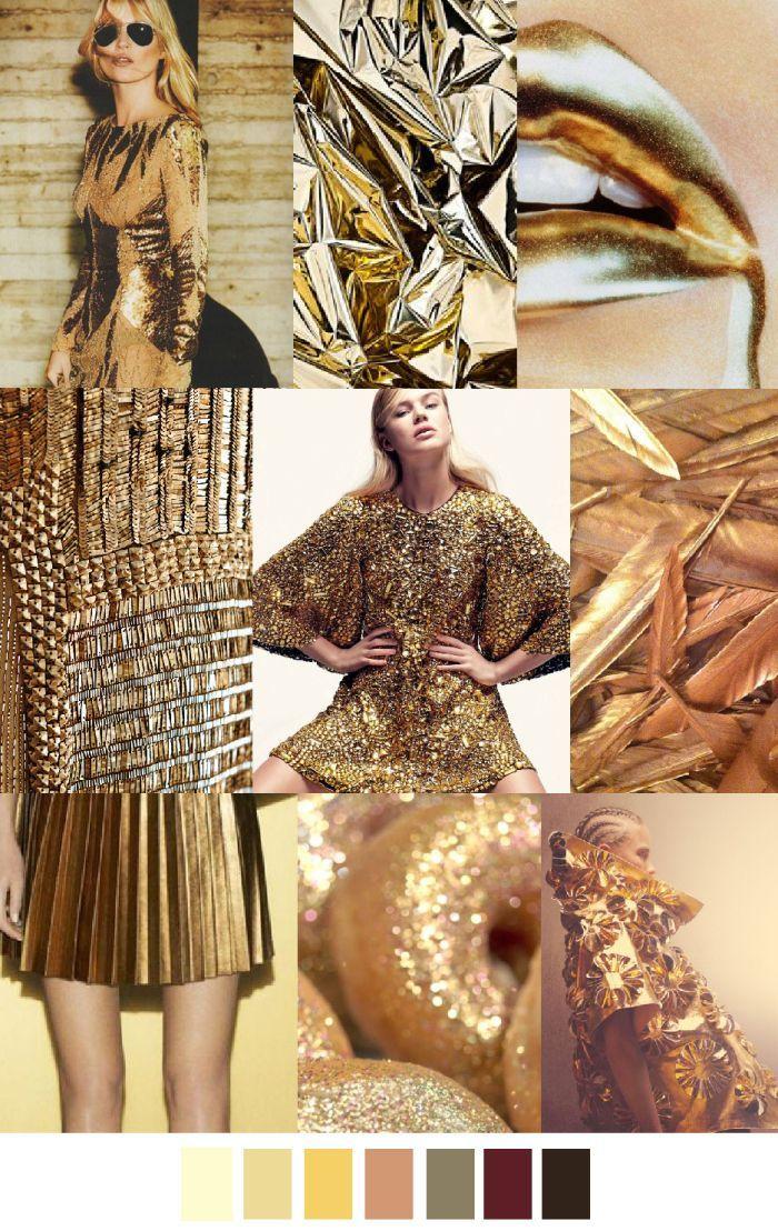 Gold metallic glitter folds pleated skirt gilded futuristic ruha szoknya 2015 - Wandfarbe gold glitter ...