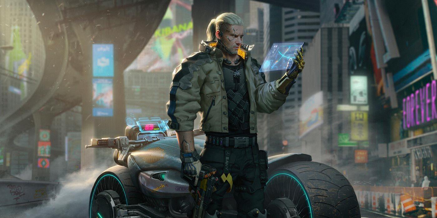 Cyberpunk 2077 art retrofuturism in beams of neon light