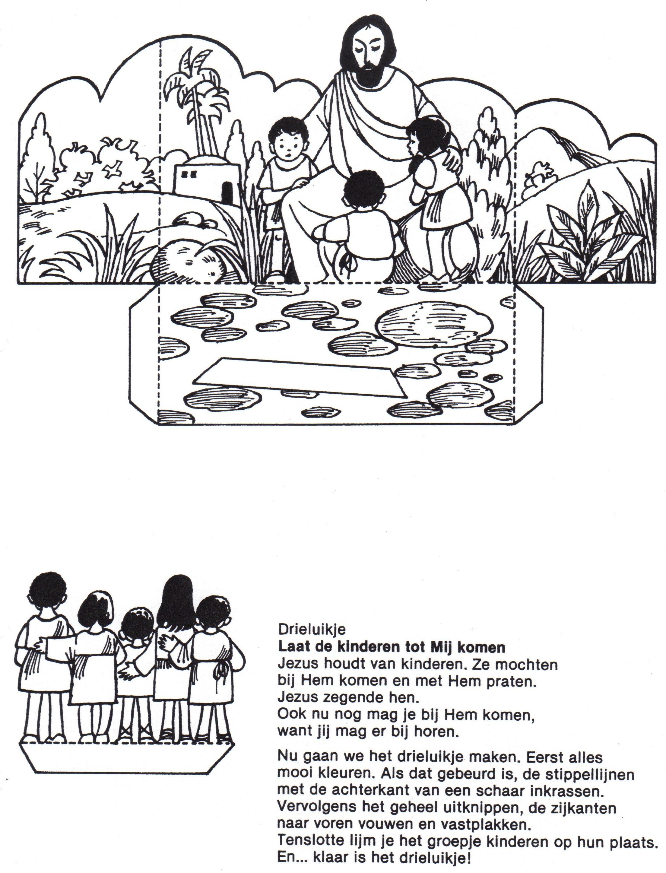 Free Coloring Page Jesus And The Children Bible Coloring Pages