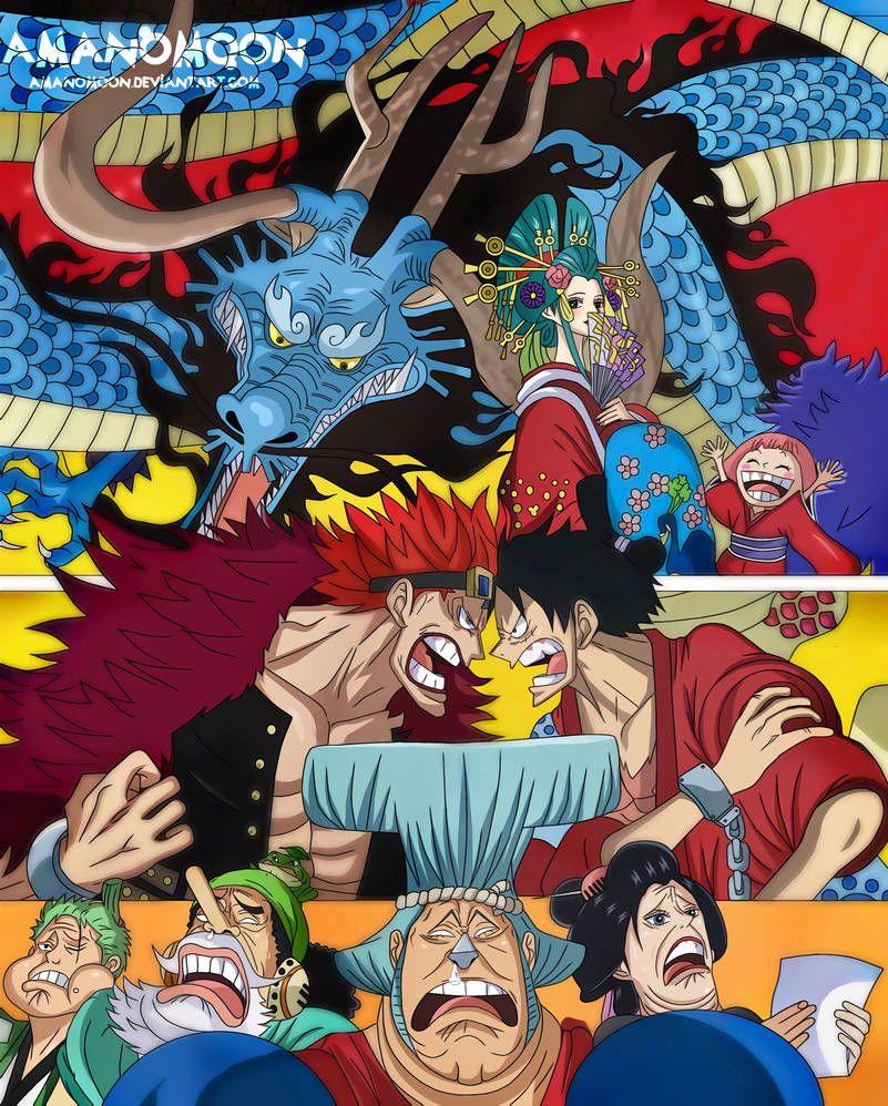 One Piece Volume 92 Cover Arrwork Wano Kuni Toei By Amanomoon On Deviantart One Piece Crew One Piece Anime One Piece World