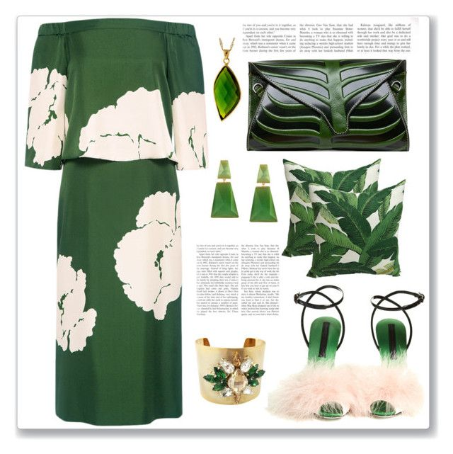 """""""Green & White"""" by feelgood35 ❤ liked on Polyvore featuring TIBI, Marco de Vincenzo, Katherine Karambelas and Wouters & Hendrix"""