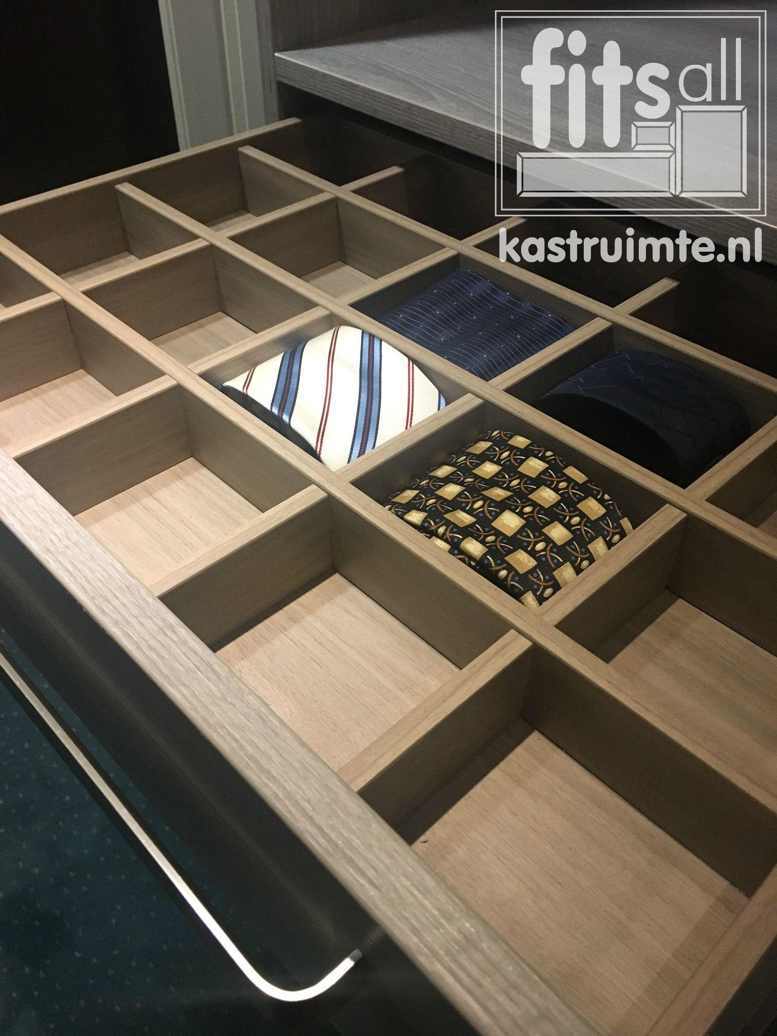 Necktie closet storage divider customization luxury kasten