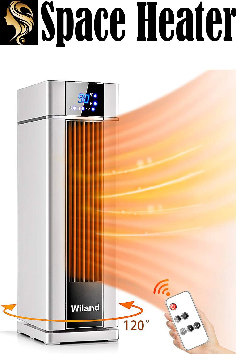 Space Heater With Remote Control Lcd Ceramic Tower Heater 120 Oscillating 1500w Fast Homeandkitchen Pressurecooker Steamer In 2020 Space Heater Heater Tower Heater