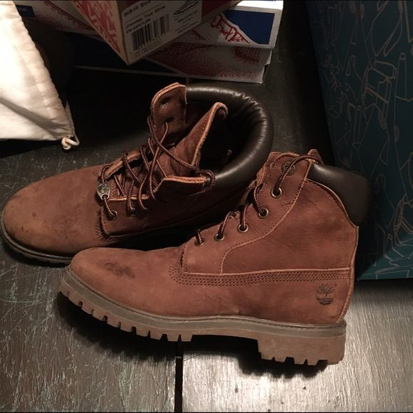 RARE chocolate timbs Brown tombs size 6.5 youth e25d8e8d76