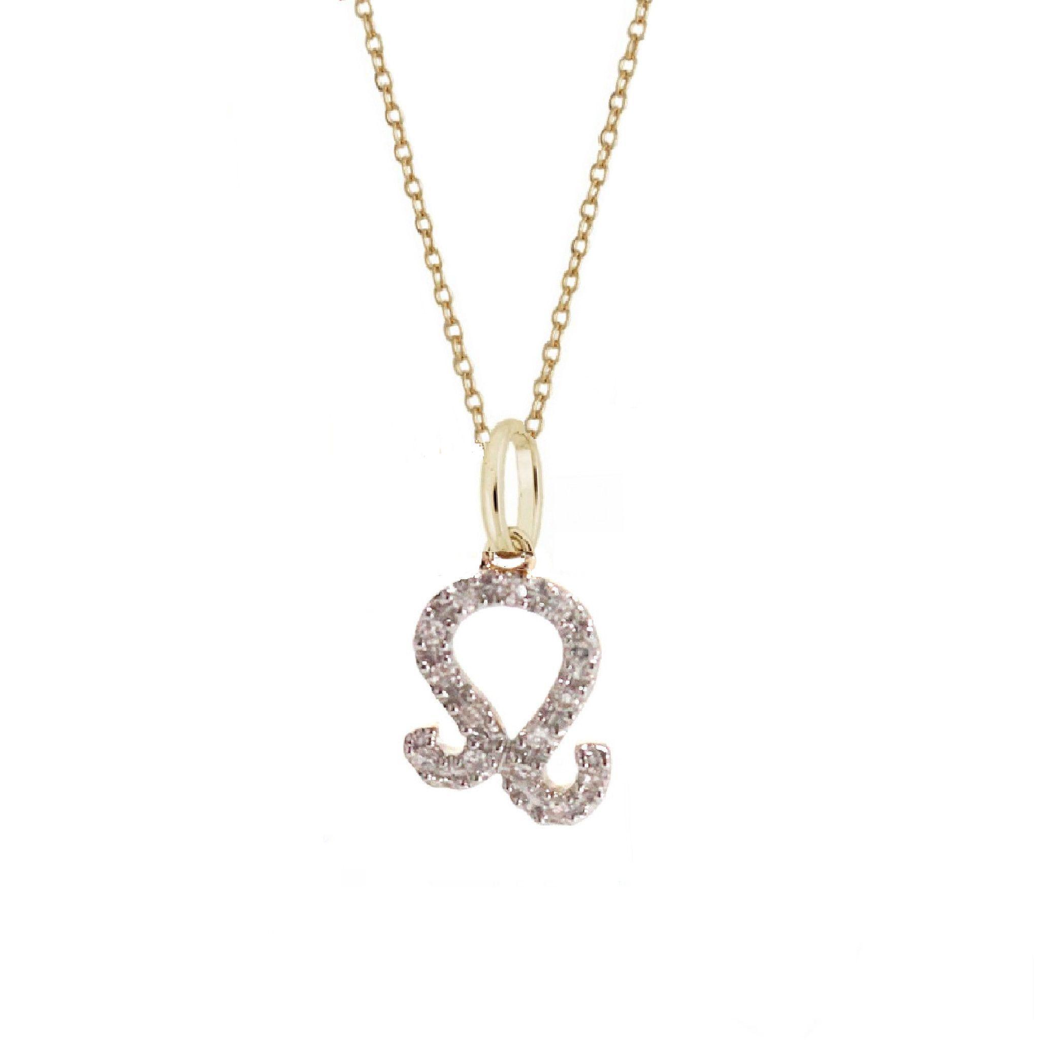 Leo diamond zodiac charm necklace leo diamond zodiac and diamond