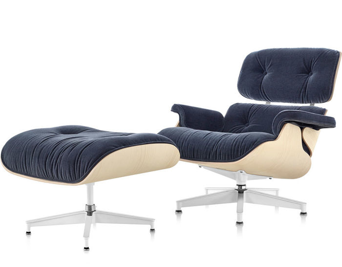 James Eames Lounge Chair Eames® Lounge Chair & Ottoman In Mohair Supreme In 2020 ...