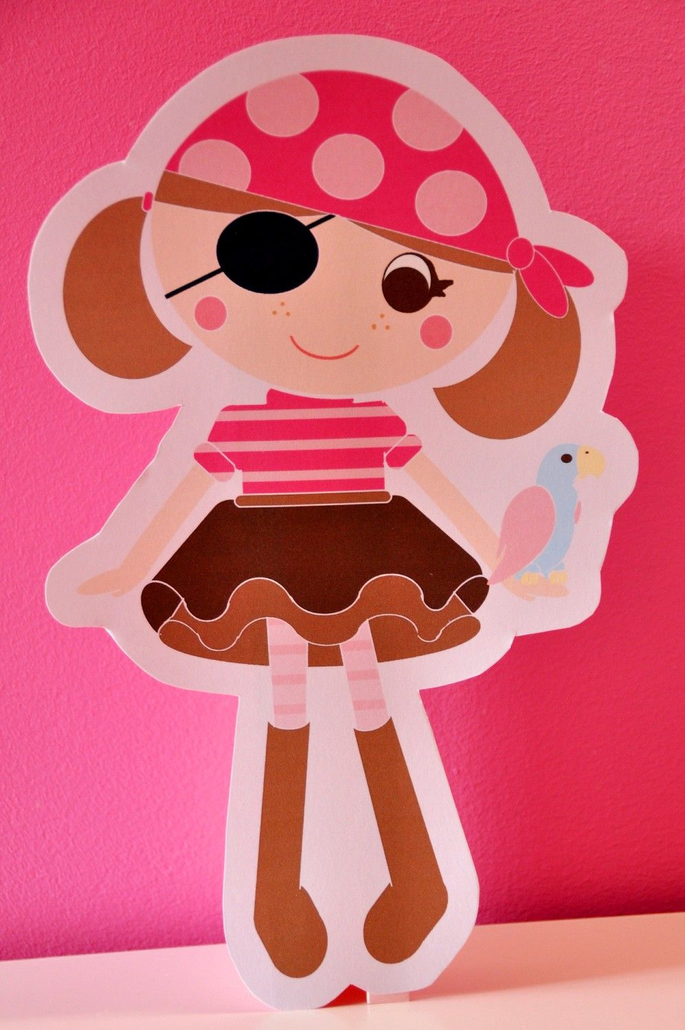 PIRATE GIRL birthday party centerpiece. $1.50, via Etsy.   Cumples ...