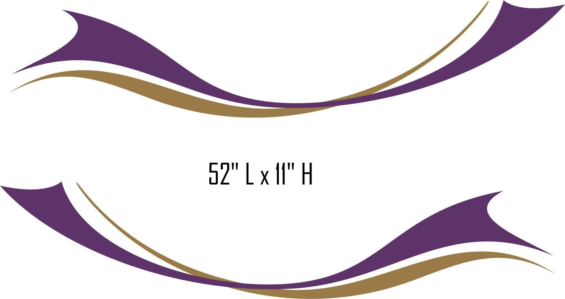 Sw09 Swoosh Swish Rv Motor Home Replacement Decals With