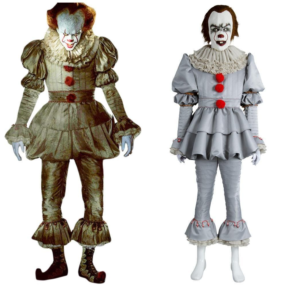 IT Movie Pennywise The Clown Outfit Suit Halloween Cosplay
