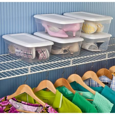 Sterilite 6 Quart Storage Box   These Shoe Boxes Are In The Clearance Aisle  In The