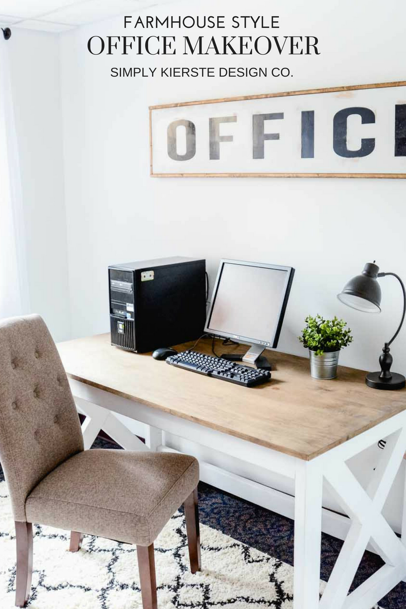 Farmhouse Style Office Makeover On A Budget Home Office Decor