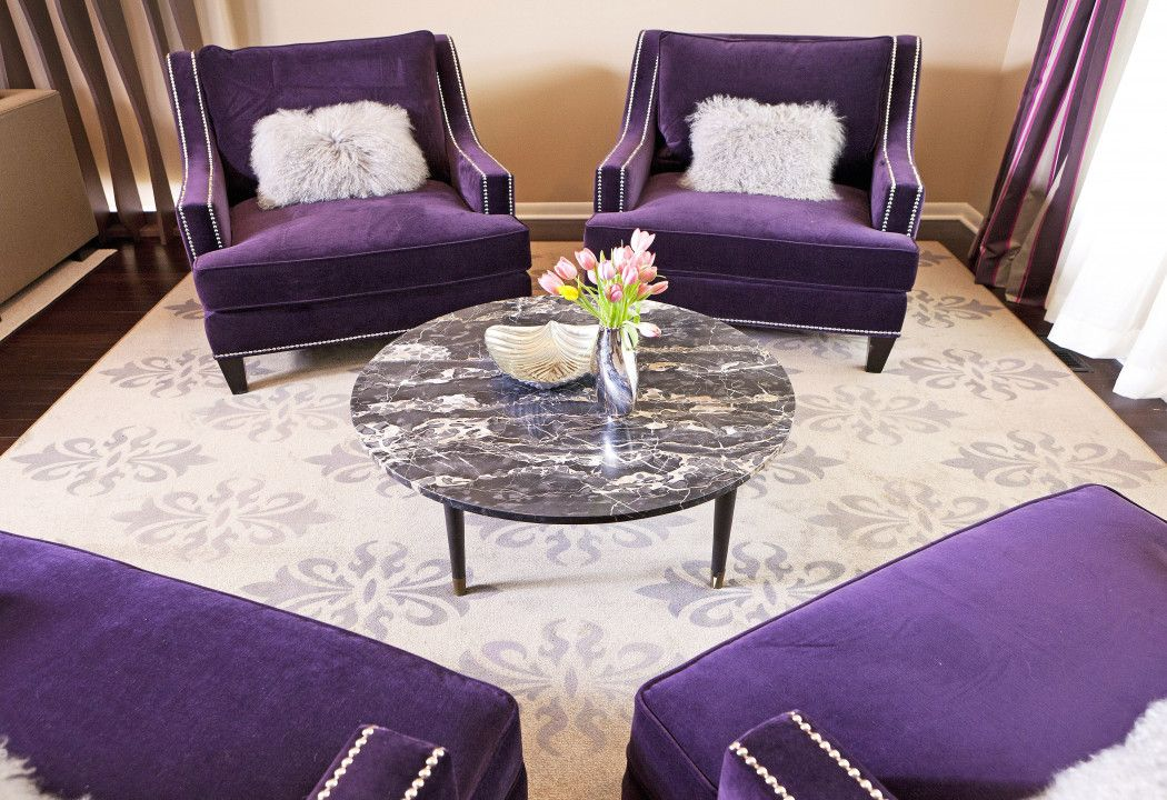 Purple Accent Chairs Living Room Best Spray Paint For Wood Furniture Purple Dining Room Living Room Decor Eclectic Purple Accent Chair