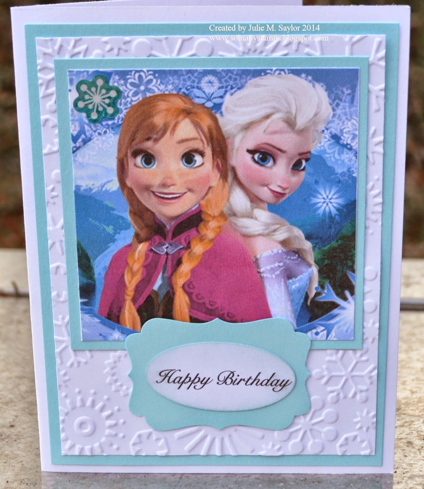 Anna and Elsa Disney Frozen Princess Birthday Card