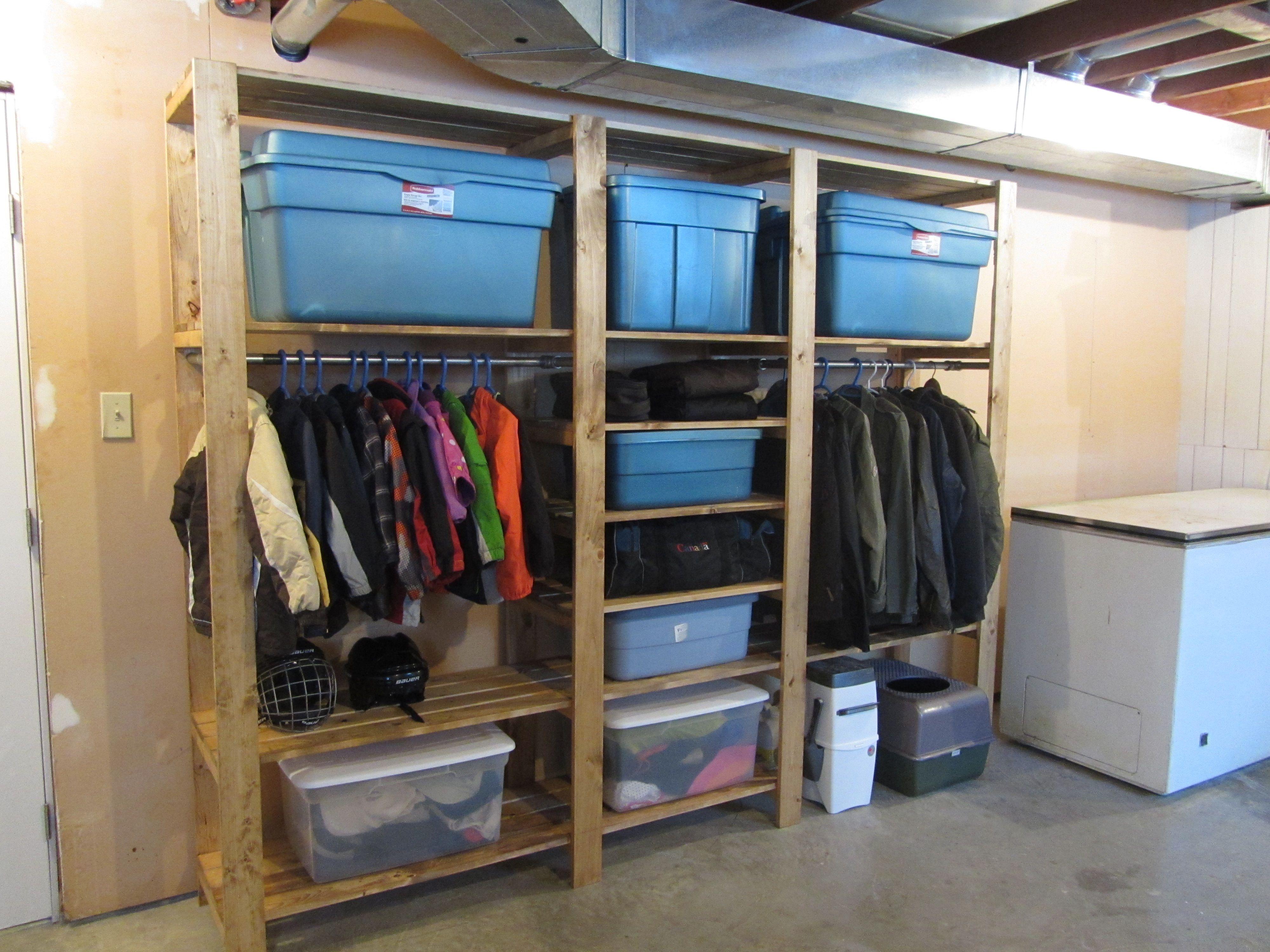 Industrial Shelf Unit Basement Storage Ana White Basement