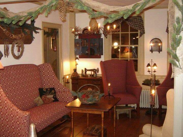 Christmas In 2019 Primitive Living Room Christmas