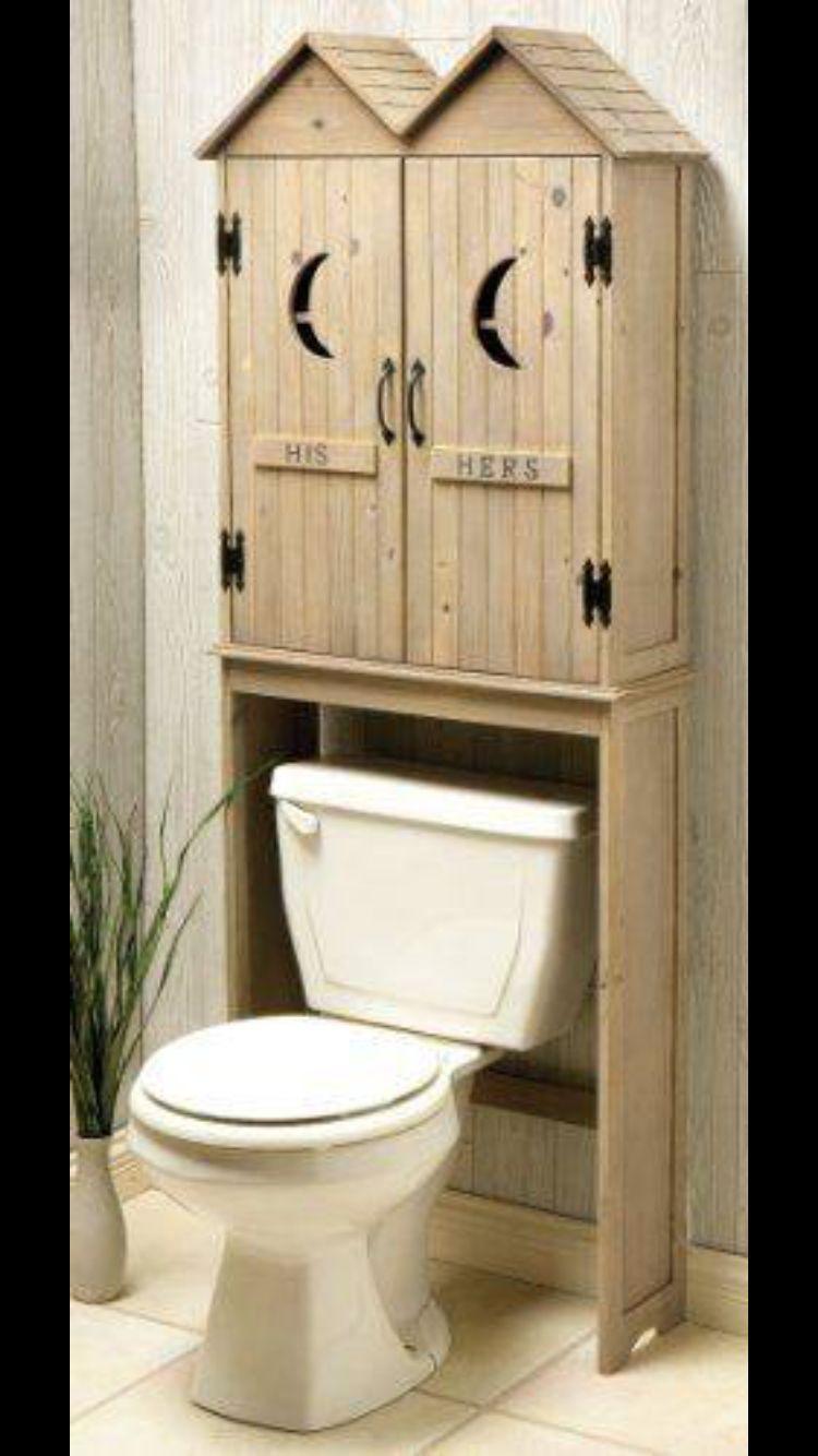 Bathroom Cabinet Idea Outhouse Bathroom Decor Outhouse Bathroom Over Toilet Storage [ 1334 x 750 Pixel ]
