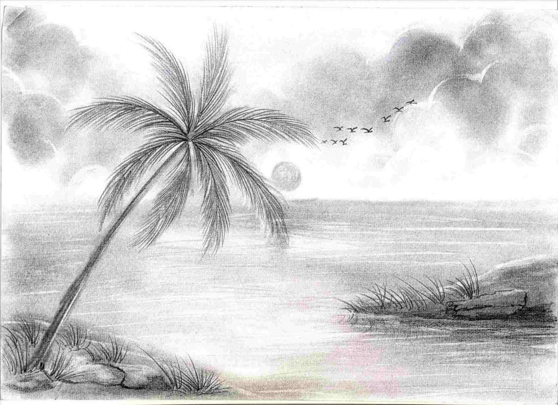 12 Best Nature Pencil Sketches In The World Nature Drawing Drawingpencilwiki Com In 2020 Drawing Scenery Landscape Drawings Easy Nature Drawings