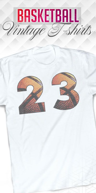 Personalize this basketball vintage t-shirt with your number on the front and your name on the back. See all basketball t-shirts on our website.