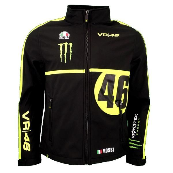 Valentino Rossi Vr46 Dual Monster Motogp Soft Shell Replica Jacket Official 2016 Graphic Jackets Valentino Rossi Jackets