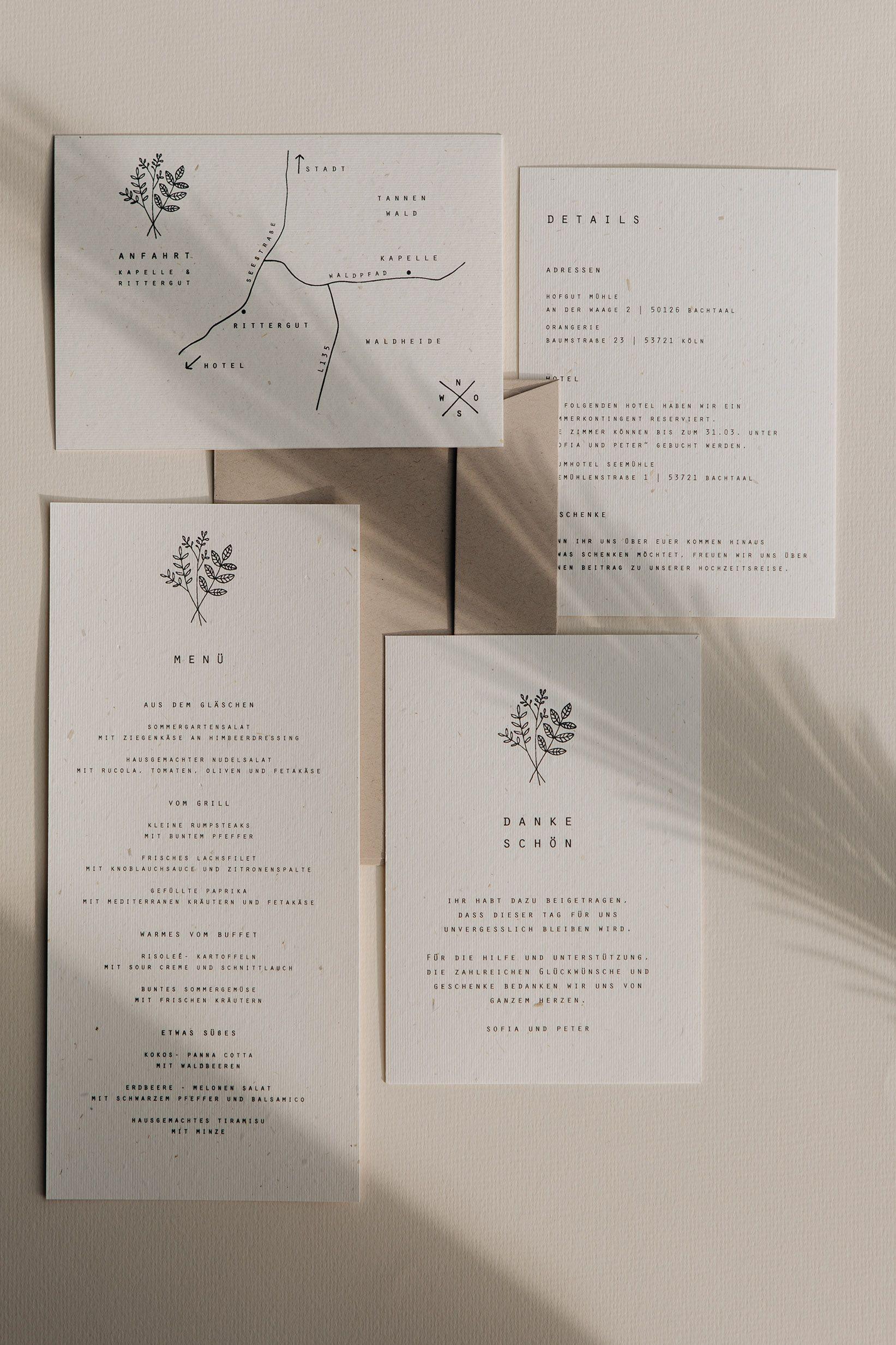 Modern Minimalist Wedding Stationery Hochzeitskarten Hochzeitseinladung Hochzeitskarten Ideen