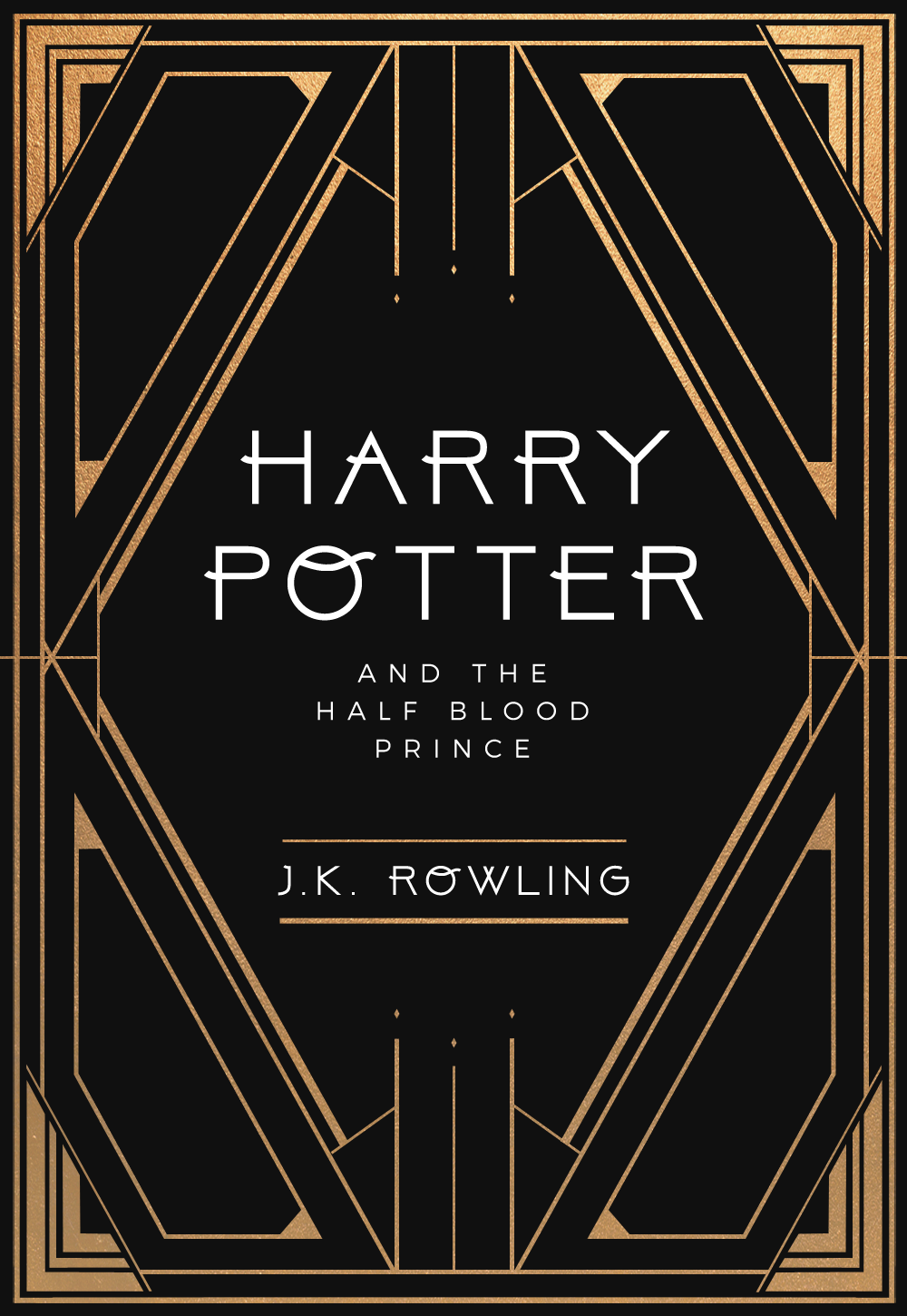 book cover redesign harry potter meets art deco. Black Bedroom Furniture Sets. Home Design Ideas