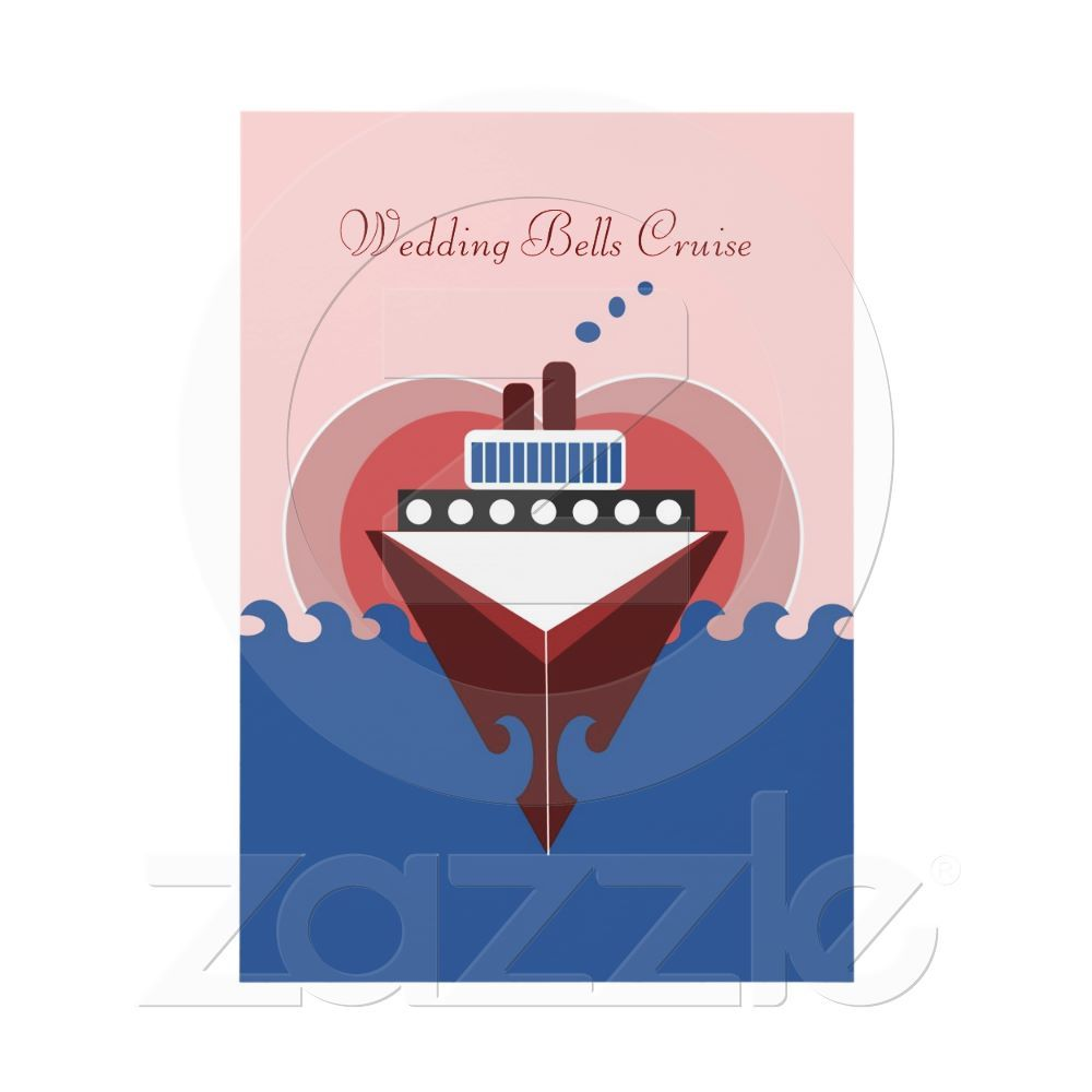 deco cruise ship with heart background