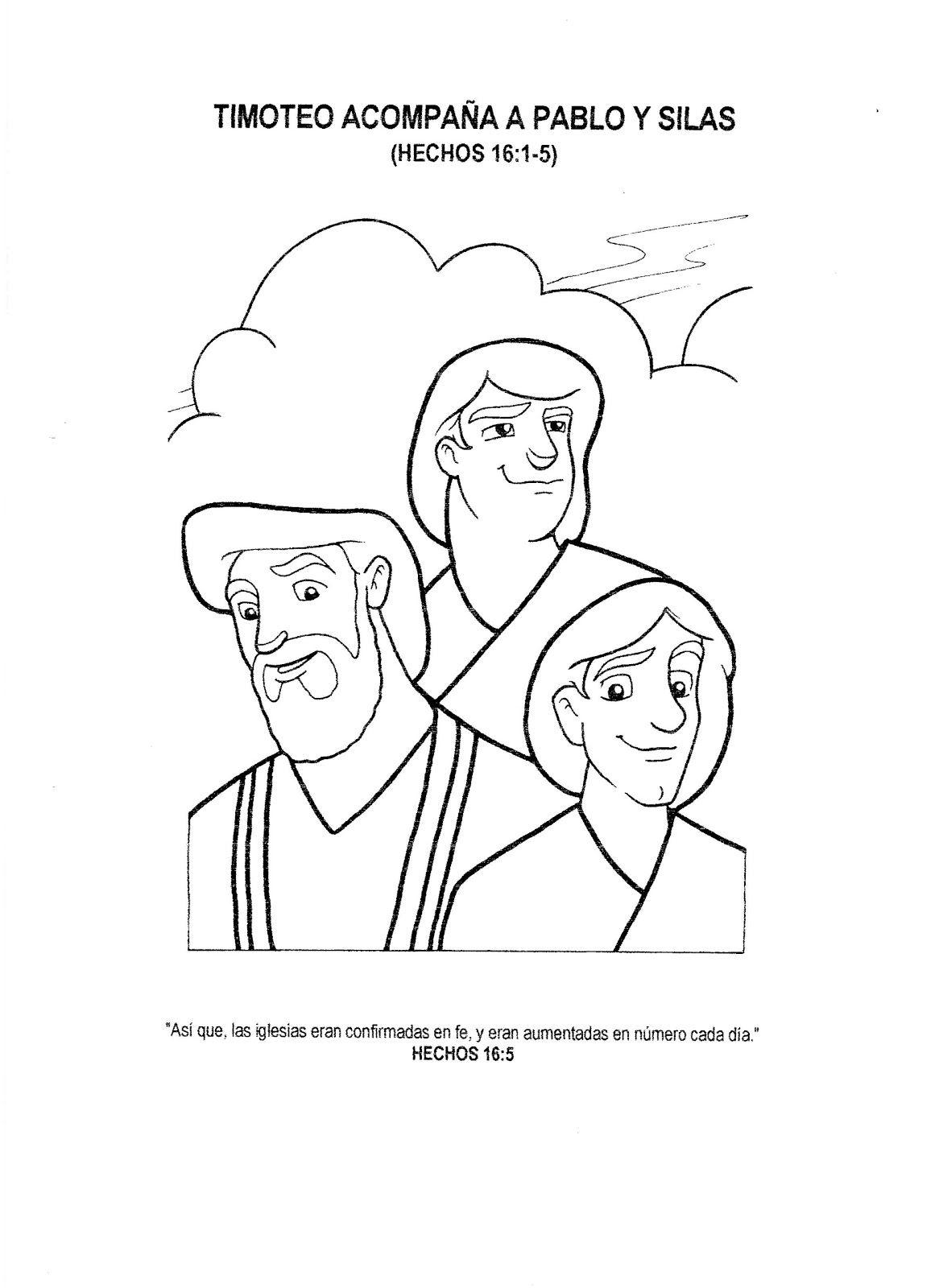 Laminas de La Biblia Para Colorear Imprimir y Recortar Pablo y