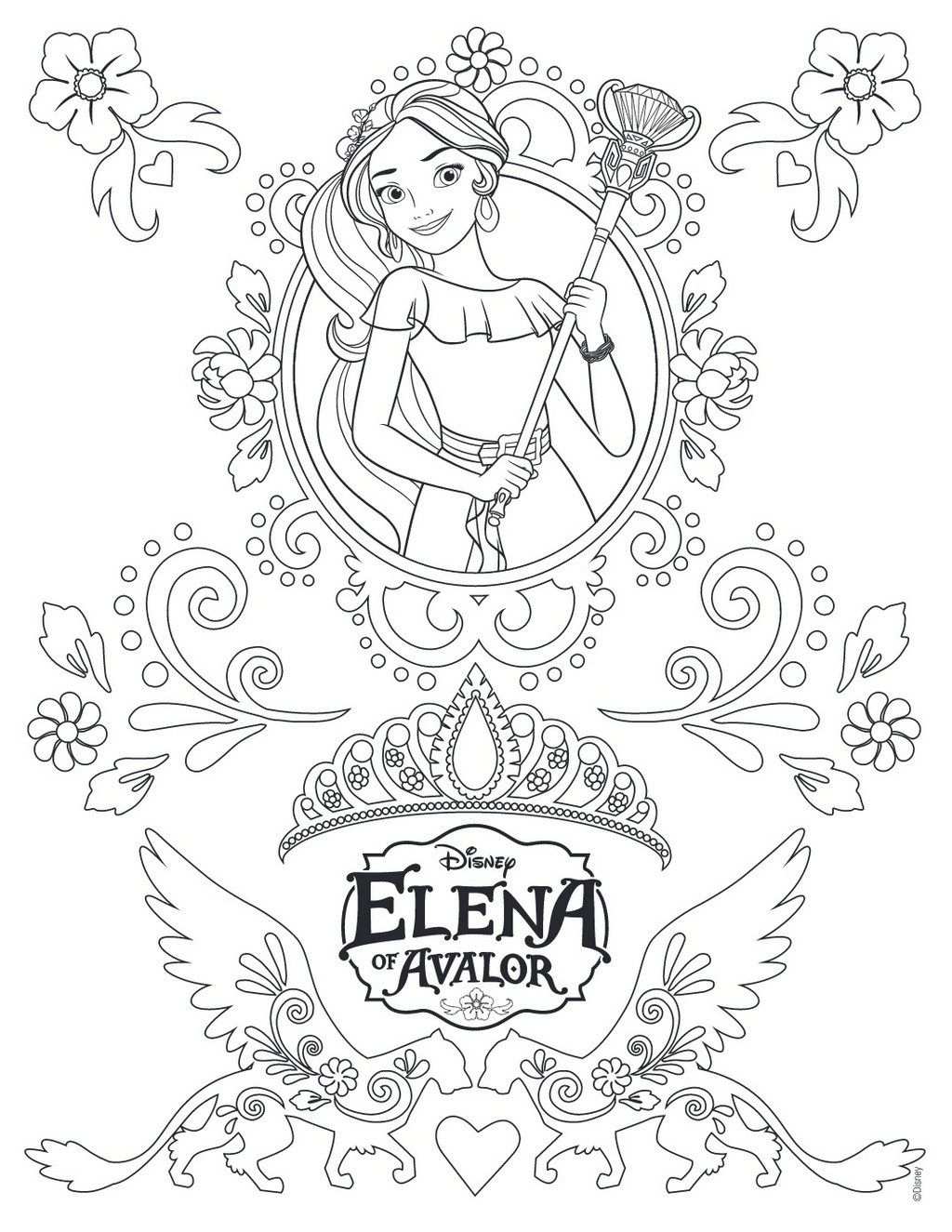 Elena Of Avalor Coloring And Activity Pages Disney Prinzessin