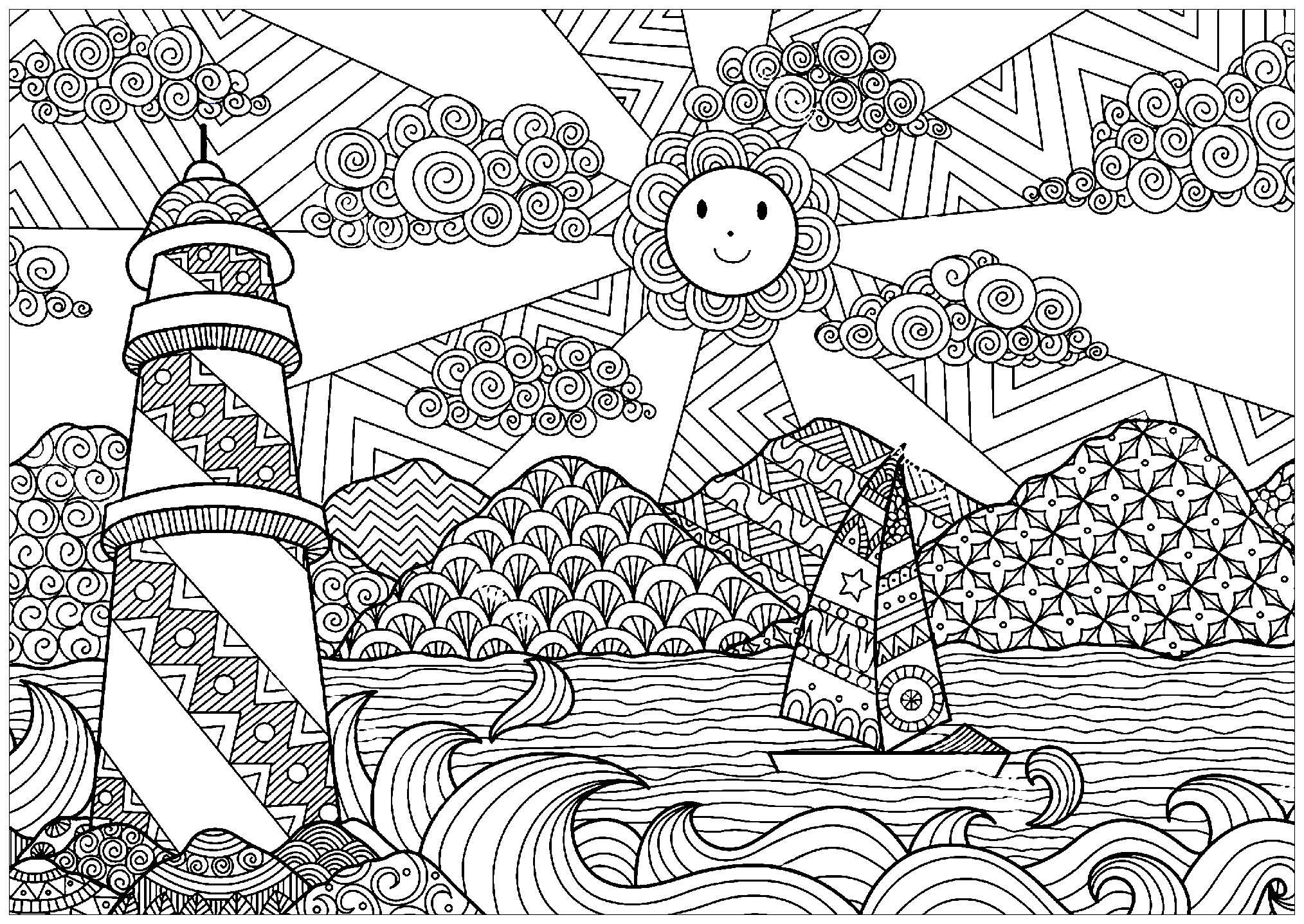 Medusa Zentangle Disegno Da Colorare Dibujos T
