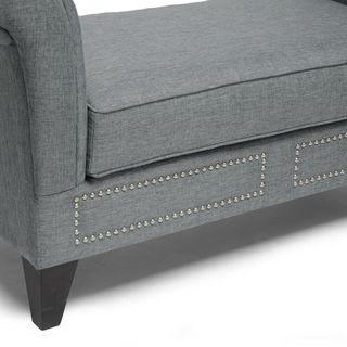 Baxton Studio Marsha Modern Scroll Arm Bench - Overstock™ Shopping - Great Deals on Baxton Studio Benches