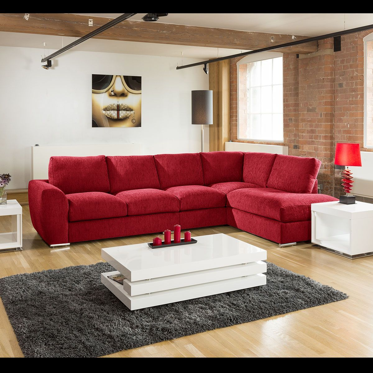 Extra Large L Shape Sofa Set Settee Corner Group 335x210cm Red R Extra Large L Shape Sofa Set Sofas For Small Spaces Small Corner Sofa White L Shaped Sofas