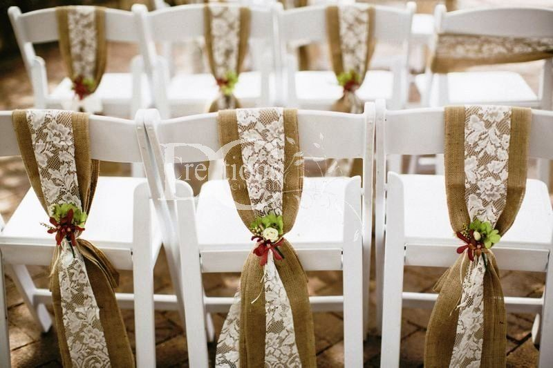 Burlap chair sashes rustic wedding decor hire hessian chair rustic wedding decor hire hessian chair sashes junglespirit Choice Image
